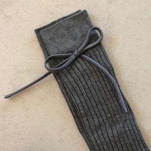Prada long ribbed socks with bow detail